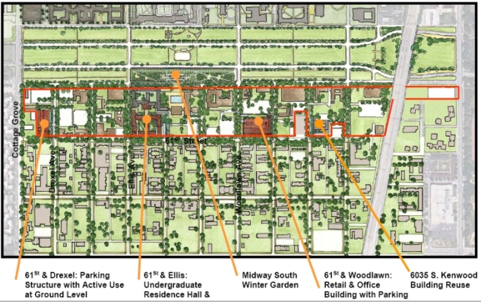 University of Chicago's south campus development plan