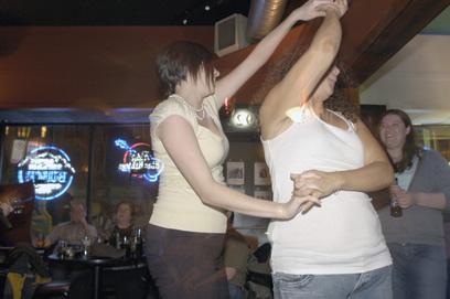 Dancing at Duke's Bar