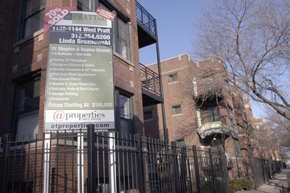 A condo development on Pratt Boulevard