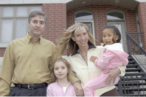 John and Diane Jacoby with their two daughters Renee (left) and Kyra