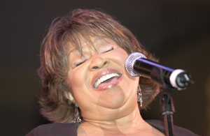 Gospel singer Mavis Staples at the Chicago Blues Festival
