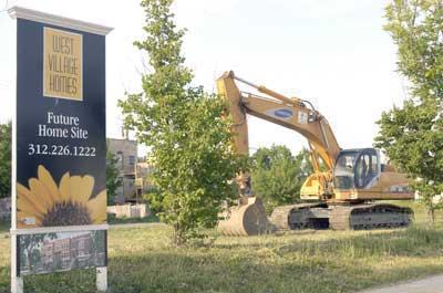 Construction is underway on West Village Homes