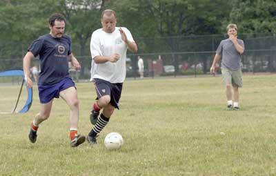 Soccer in Skinner Park