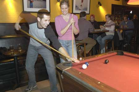 A game of pool at North Side